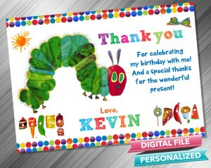 Very Hungry Caterpillar Thank you Card