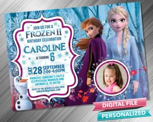 Frozen 2 Invitation with picture