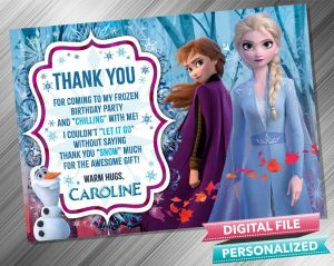 Frozen 2 Thank you card
