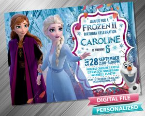 Frozen 2 Anna & Elsa  Invitation