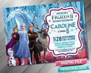 Frozen 2 Anna Elsa Kristoff Invitation