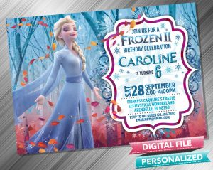 Frozen 2 Elsa Birthday Invitation