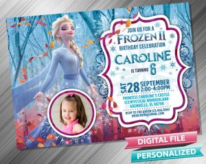 Frozen 2 Elsa Invitation with picture