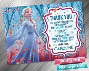 Frozen 2 Elsa Thank you card