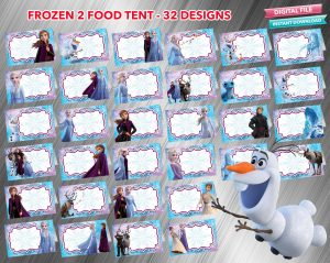 Frozen 2 Food Tent 32 designs