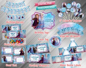 Frozen 2 Printable Birthday Package