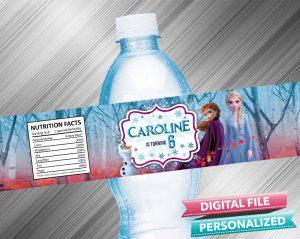 Frozen 2 Water Bottle Label