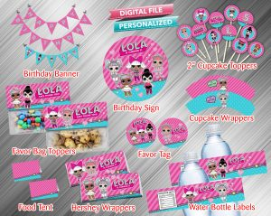 LOL Surprise Doll Printable Birthday Package