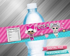 LOL Surprise Doll Water Bottle Label