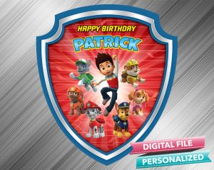 Paw Patrol Birthday Sign