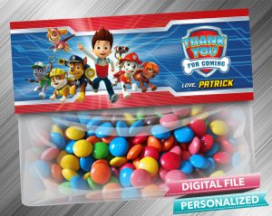 Paw Patrol Treat Bag Toppers