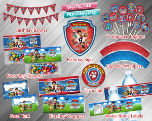 Paw Patrol Printable Birthday Package