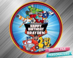 Rescue Bots Birthday Sign