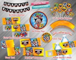 Rescue Bots Printable Birthday Package