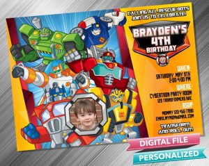 Rescue Bots Invitation with picture