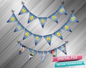 Toy Story 4 Birthday Banner