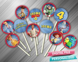 Toy Story 4 Cupcake Toppers