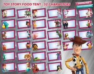Toy Story 4 Food Tent 32 designs