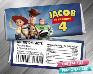 Toy Story 4 Hershey Candy Bar Wrapper