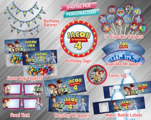 Toy Story 4 Printable Birthday Package