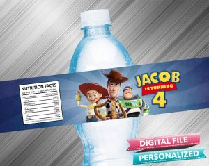 Toy Story 4 Water Bottle Label