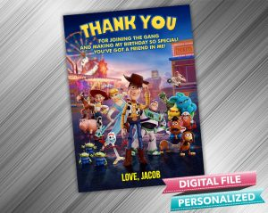 Toy Story 4 Thank you card