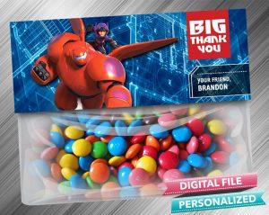 Big Hero 6 Favor Bag Toppers