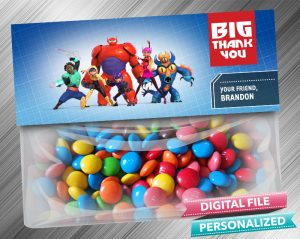 Big Hero 6 Treat Bag Toppers