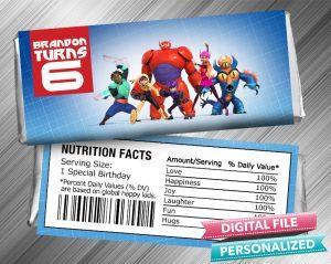 Big Hero 6 Hershey Candy Bar Wrapper