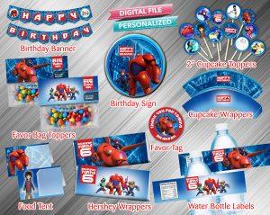 Big Hero 6 Printable Birthday Package