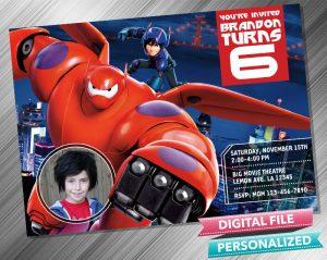 Big Hero 6 Invitation with picture
