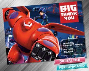 Big Hero 6 Thank you Card