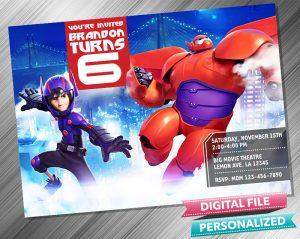 Big Hero 6 Birthday Invitation
