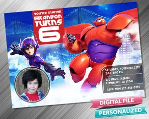 Big Hero 6 Birthday with picture
