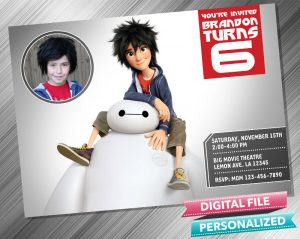 Baymax Invitation with picture