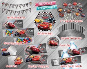 Cars 3 Printable Birthday Package