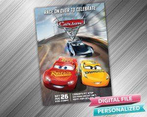 Cars 3 Birthday Invitation