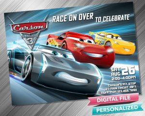 Cars 3 Lightning Mcqueen Invitation