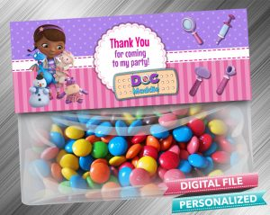 Doc McStuffins Treat Bag Toppers