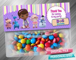Doc McStuffins Favor Bag Toppers