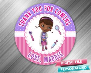 Doc McStuffins Favor Tag