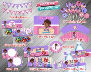 Doc McStuffins Printable Birthday Package