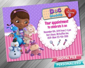 Doc McStuffins Invitation