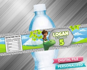 The Good Dinosaur Water Bottle Label