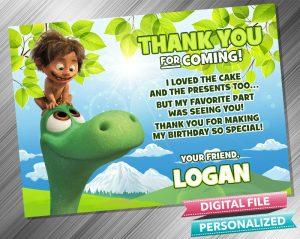The Good Dinosaur Thank you Card