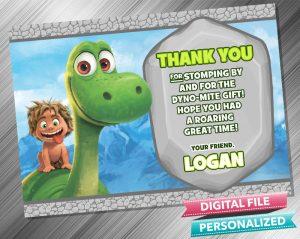 The Good Dinosaur Birthday Thank you Card