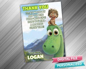 The Good Dinosaur Arlo and Spot Birthday Thank you Card