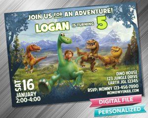 The Good Dinosaur Birthday Party Invitation