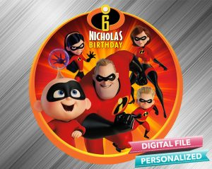 The Incredibles Birthday Sign
