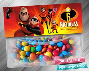The Incredibles Treat Bag Toppers